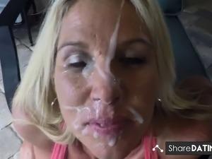 hot sexy blonde babes oral cumshot