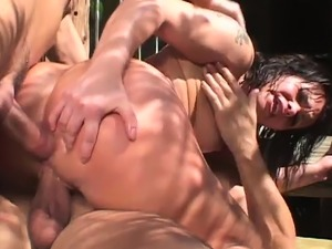 hot blonde double anal