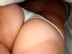 jerk off on girlfriends tits