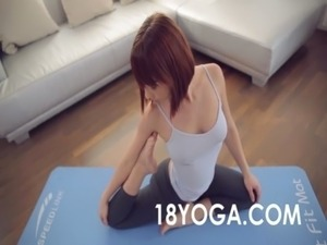 video yoga naked female