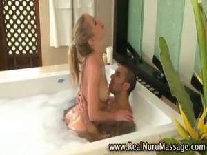 young girl bath