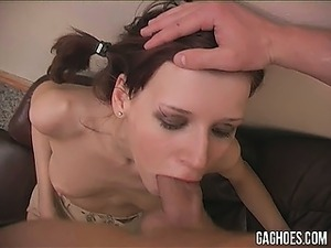 black girl gagging