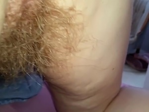 shaves pussy closeup