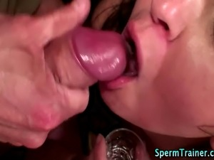 Indian cum swallowing