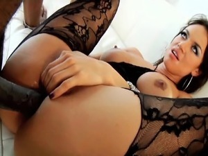 double anal and pussy cumshots