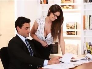 secretary and boss having sex videos