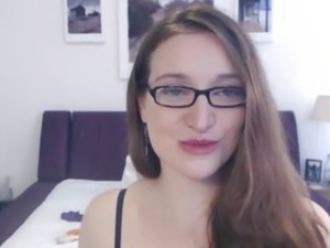 blowjob video girl with glasses