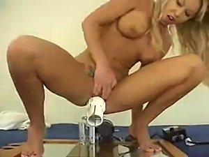 petite blonde huge dildo