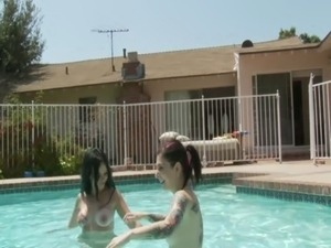 teen wild pool party