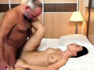 old man cums inside young girl