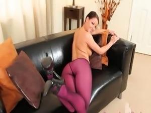 pantyhose handjob video