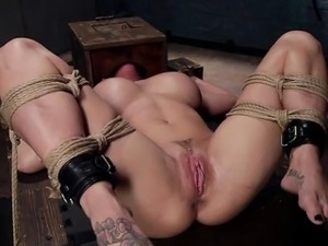 Girl riding dildo hard