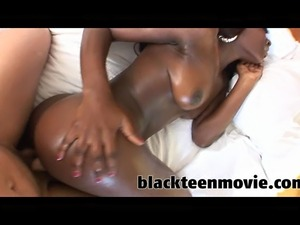 tight ebony teen takes every