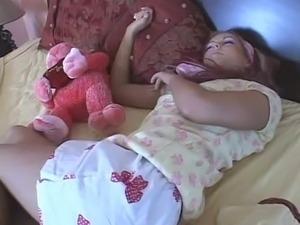 Sexy sleeping teen