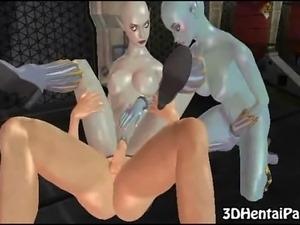 sexy ass alien gets fucked hardcore