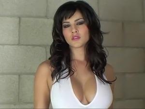 stunning brunette pornstar fucks black cock