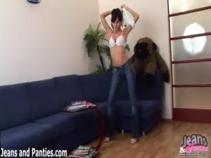 Hot girls wearing jeans