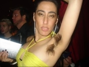 sexy girls with hary armpits