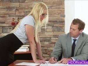 secretary blowjob video