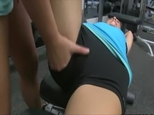 naked girl in gym