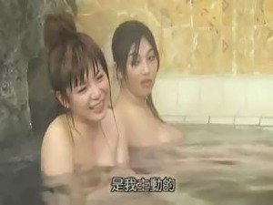bathing lesbian blonde on blonde