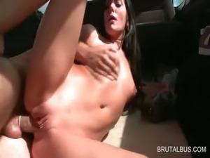 orgasm on bus video