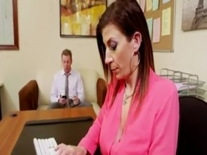 strap on anal office sex