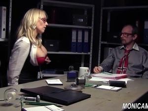 Sexy lesbian asian secretary