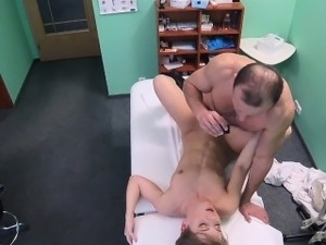 doctor fingering pussy