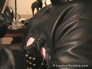 Hot leather girl