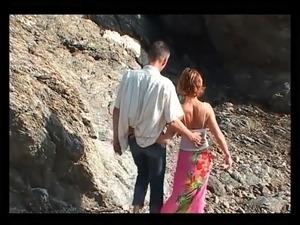 People having sex on beach