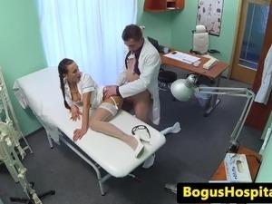 blonde nurses eating pussy