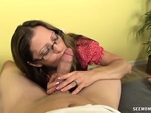 mature mom younger boy