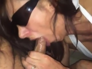 blonde wife gives deepthroat