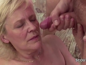 young boy kissing mature tits