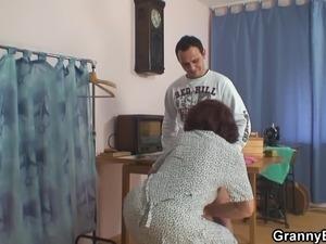 horny wife fucks young boy