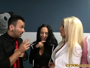 amateur mature women handjob group cfnm