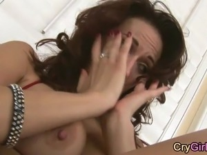 black girl crys from anal