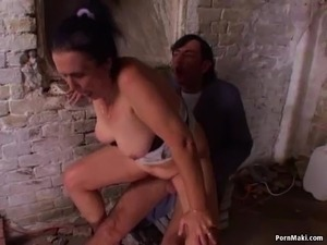 sexy granny anal gagging