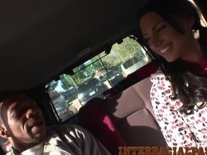 black guy caught fucking white girl