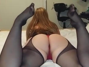 big tits and black nylons