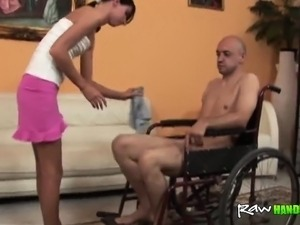 Remarkable, this handicap girl getting fucked