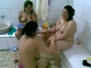 bathing young girl