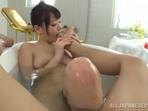 bubble bath topless video