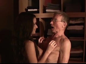 young girl and old man tits