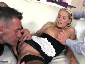 blonde anal double