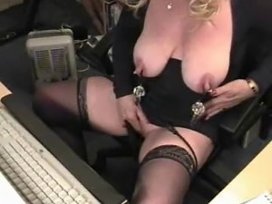 pussy flogging clit slapping
