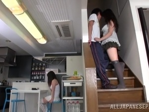 young girl anal sex kitchen