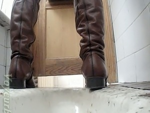 Naked girls on the toilet