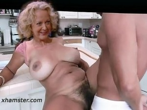 British granny lacey starr strips off at the office